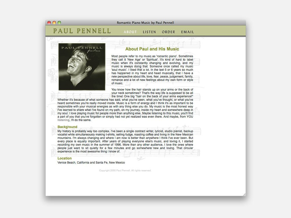 Paul Pennell About Page