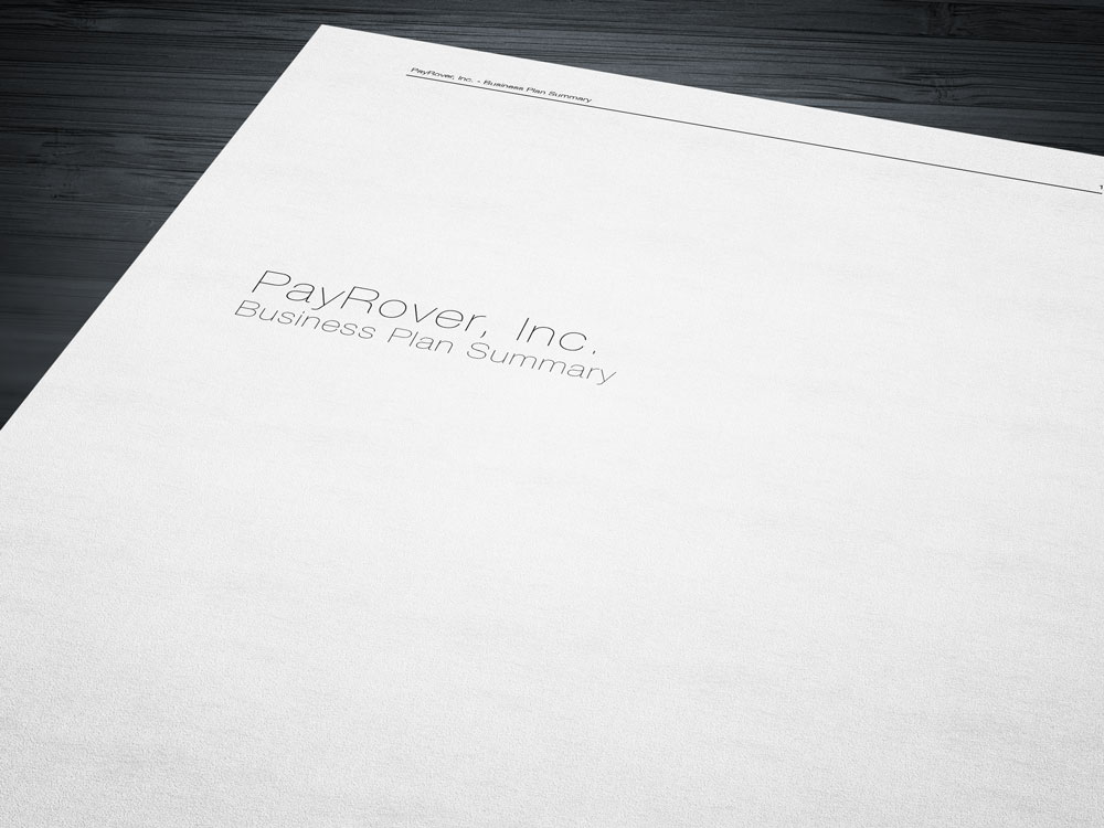 PayRover Business Plan Summary
