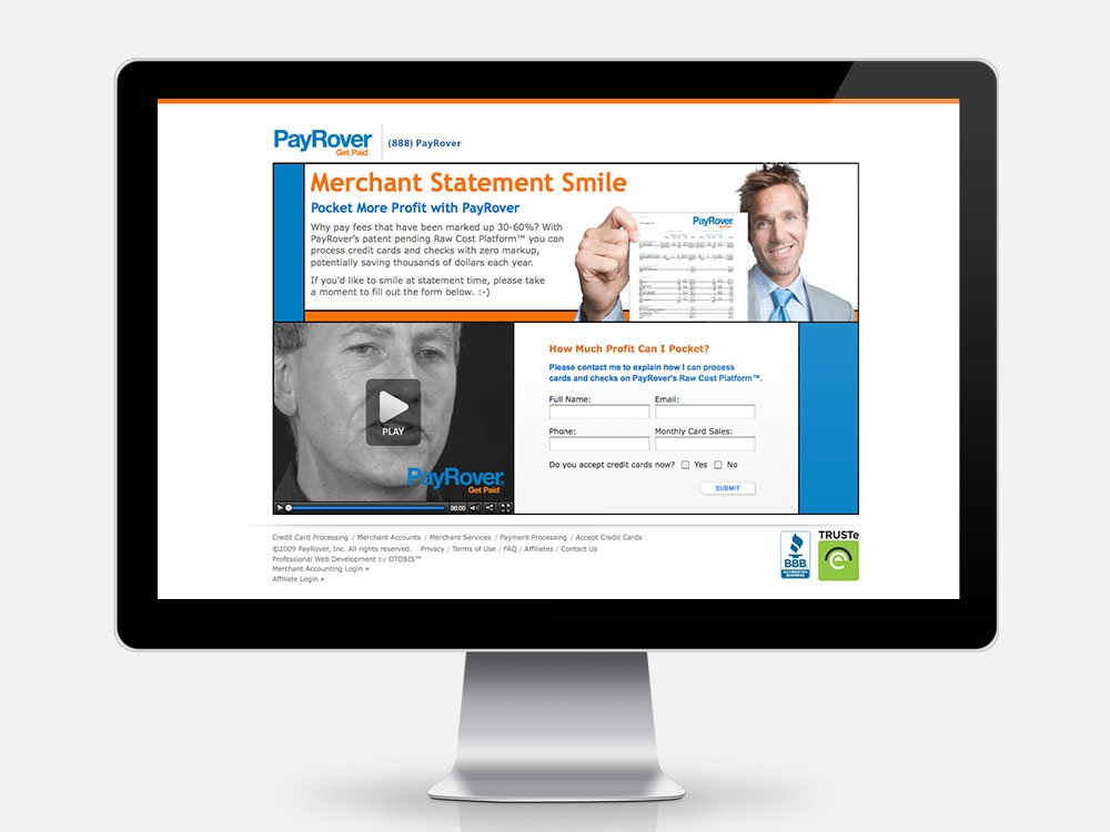 Merchant Statement Smile Landing Page