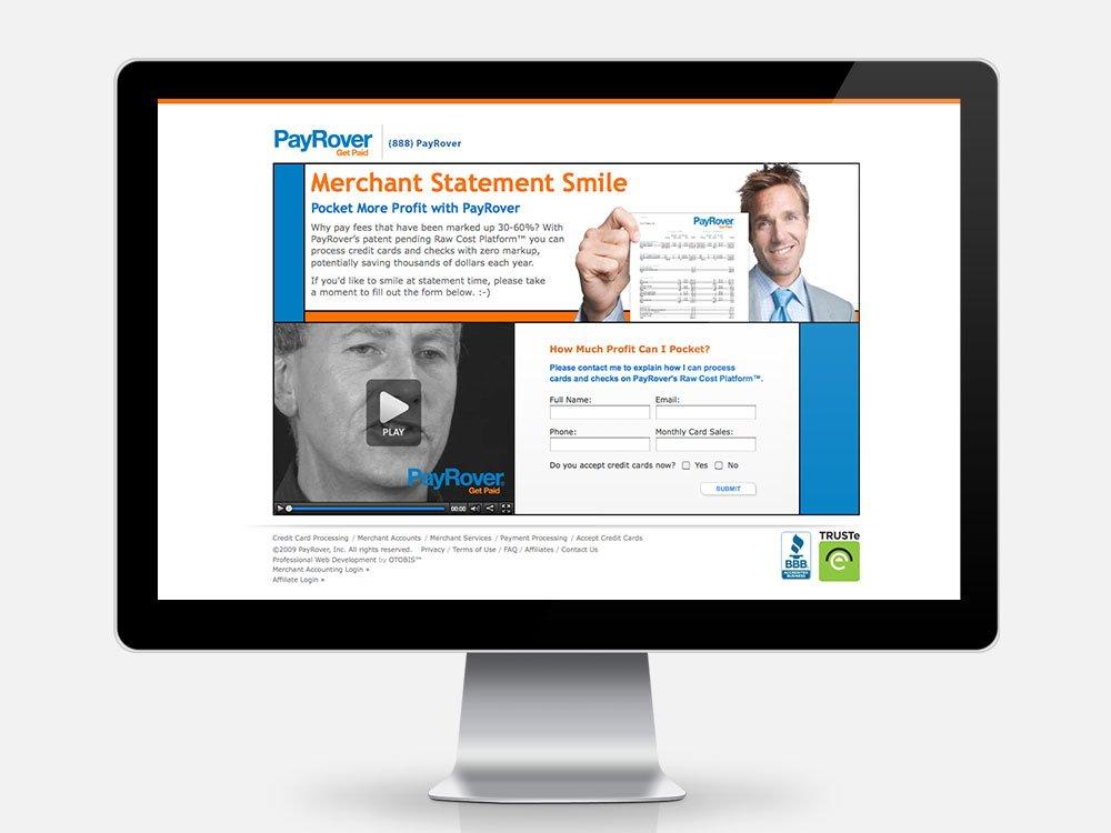 Merchant Statement Smile Landing Page