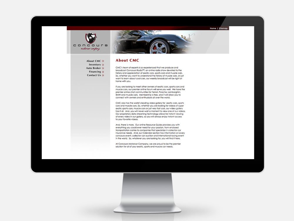 Concours Motorcar Company About Page