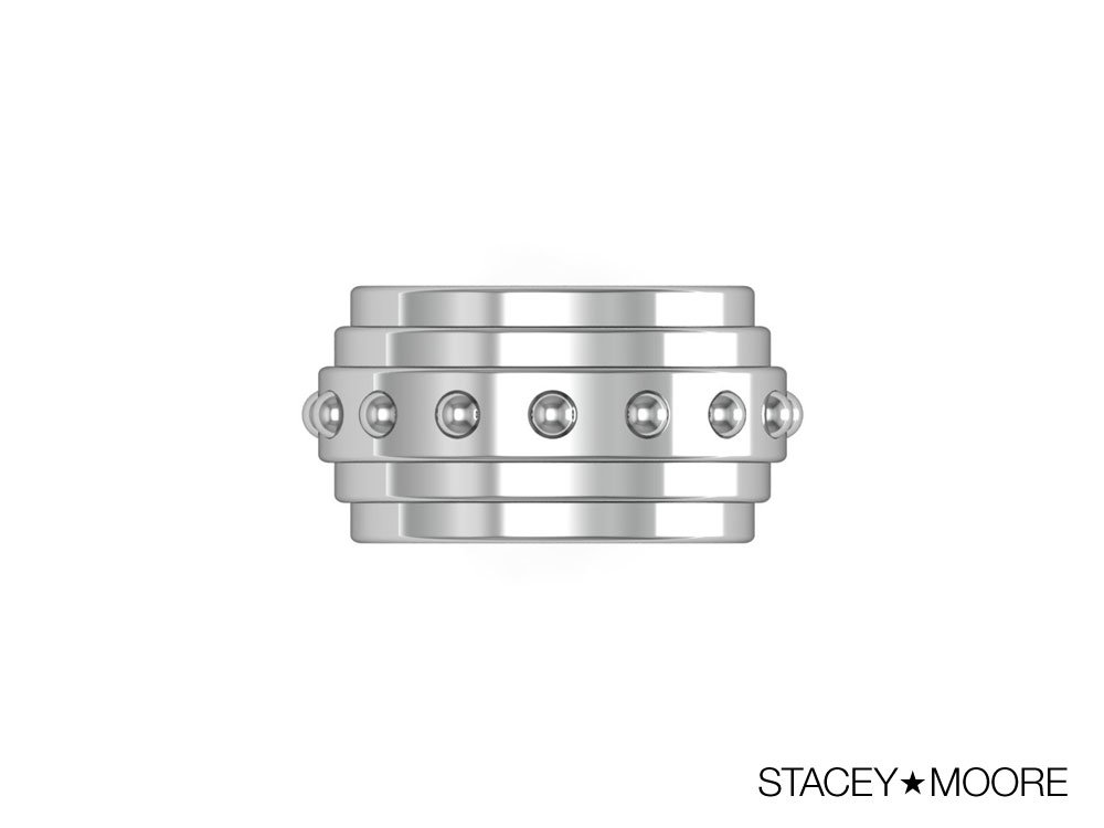 Platinum Three Layer Ring