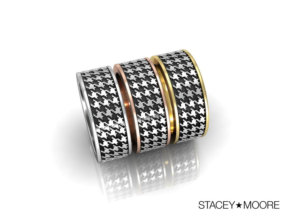 Houndstooth Rings