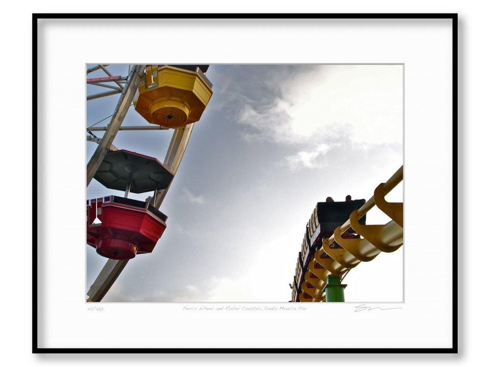 Ferris Wheel and Roller Coaster, Santa Monica Pier