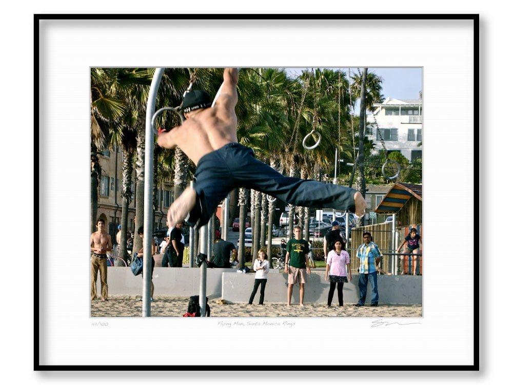 Flying Man, Santa Monica Rings