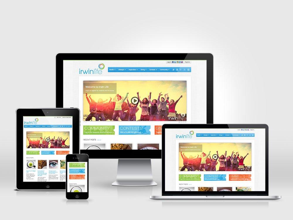 Irwin Life Responsive BuddyPress Social Network Design